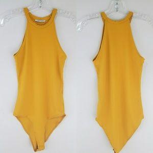 Zara Trafaluc One piece Mustard Yellow Bodysuit